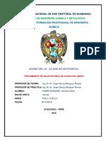 Informe Sobre Tratamiento de Agua Potable-quicapata