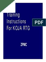 Training for KOJA RTG