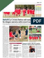 La Provincia Di Cremona 17-10-2018 - Serie B