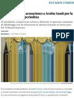 Trump Critica Las Acusaciones a Arabia Saudí Por La Desaparición Del Periodista _ Estados Unidos _ EL PAÍS