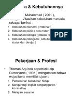Pekerjaan Profesi Dan Profesional