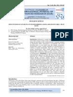 EFFECTIVENESS OF GINGER TEA ON DYSMENORRHOEA AMONG ADOLESCENT GIRLS - PILOT STUDY.