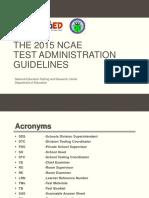 2015 NCAE Guidelines Shortened