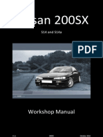 usdm nissan 240sx S14 + S14a with ka24de ka24e engines repair Manual