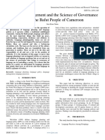 Language Management and the Science of Governance among the Bafut People of Cameroon