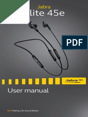 Jabra Elite 45e User Manual En Reva Headphones Siri