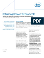 Optimizing Hadoop Deployments Rev 2.0