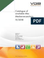 VGB PowerTech Medienverzeichnis 2018 IV (English/German, Englisch/Deutsch)
