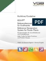 VGB-B 102 RDS-PP® Referenzkennzeichensystem für Kraftwerke   Reference Designation System for Power Plants (Excerpt)