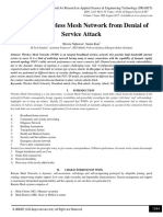 Security of Wireless Mesh Network from Denial of Service Attack
