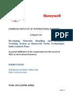 Honeywell Project Report Shekhar_Sachdev