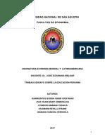 Ensayo Sobre La Educacion en El Peru Terminado