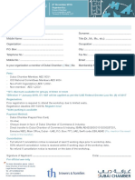 """""""Mergers and Acquisitions'' Workshop Registration Form"""