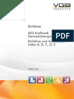 VGB-B 105.1 VGB-Richtlinie KKS Kraftwerk-Kennzeichensystem Begriffszuordnungsliste zum Aggregate- und Betriebsmittelschlüssel