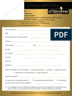 Fiche d'Inscription concours d'Stimme 2019