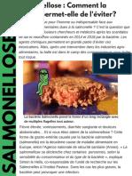 Grand Prix les Jeunes Journalistes de la Chimie, découvrez l'enquête de Cassandre et Romane sur la salmonelle.