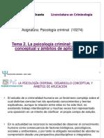 TEMA 2 Psicología Criminal