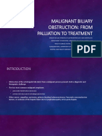 Malignant Biliary Obstruction
