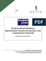 PGCliWin - Interface Com a Automação Comercial - V2.15