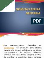 Nomenclaturas dentarias