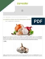 10 Alimentos e Ervas Que São Verdadeiros Antibióticos Naturais - GreenMe.com
