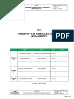PET-OPE-TT-002 Transporte de Materiales Insumos y Herramientas_V01