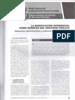 291146352 La Bonificacion Diferencial Como Derecho Del Servidor Publico Jose Maria Pacori Cari