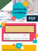 Control de Variables ppt