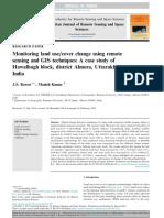 Montoring vegeation change scheme