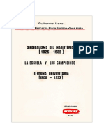 Guillermo Lora 1979 Sindicalismo Del Magisterio Etc