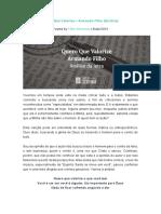 ANÁLISE BÍBLICO - Quero de Valorize o Que Você Tem PDF