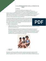 Aproximación a La Problemática de La Niñez en El Perú
