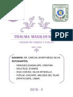 01. Trauma Maxilofacial - Informe Final.