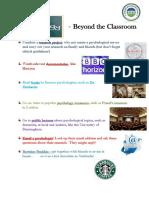 Psychology - Beyond the Classroom