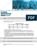 Global Innovation Index 2018 - Colombia report