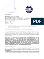 NMPA and RIAA Letter on ALI's Copyright Restatement