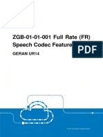 GERAN UR14 ZGB-01!01!001 Full Rate (FR) Speech Codec Feature Guide (V3)_V1.0