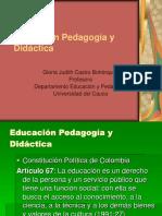 Definición Educación Pedagogía Didáctica