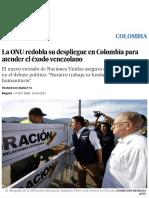 La ONU Redobla Su Despliegue en Colombia Para Atender El Éxodo Venezolano _ Colombia _ EL PAÍS