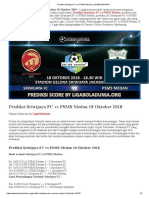 Prediksi Bola Sriwijaya Fc vs Psms Medan