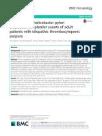 HELICOBACTER Idiopathic Thrombocytopenic PURPURA