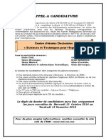 Appel a Candidature CEDOC 2014 2015