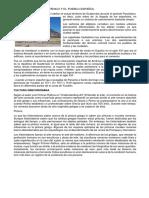 Asentamiento Prehispánico y El Pueblo Español