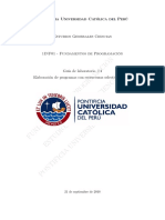 Guía #4 - Elaboración de programas con estructuras selectivas dobles