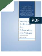 Satisfação Profissional Dos Enfermeiros Em Portugal - 2018