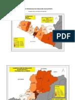 Mapas Provinciales de Población Segun Distrito. Reg. Arequipa-Perú