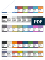 Microsoft Word 2007 Desktop Publishing RGB and HEX Analysis