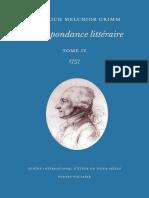 Grimm - Correspondance Littéraire