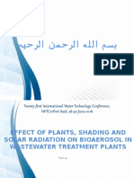 Effect of Plants, Shading and Solar Radiation on Bioaerosol in Wastewater Treatment Plants