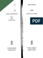 [Heidegger Gesamtausgabe 21] Martin Heidegger. Ed. Walter Biemel - Logik. Die Frage nach der Wahrheit (Wintersemester 1925_26) (1995, Klostermann).pdf